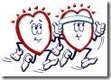 jogging hearts
