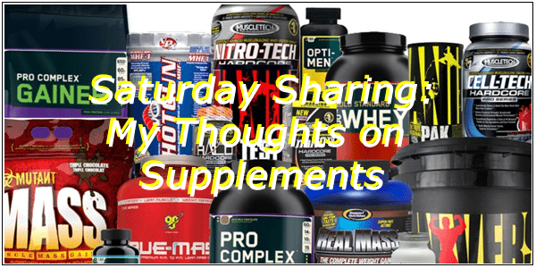 My thoughts on supplements