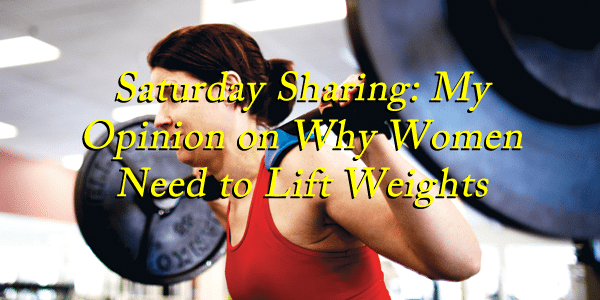 women need to lift weights