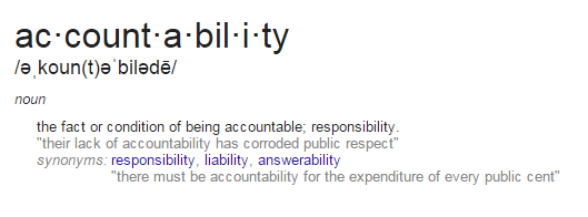 accountability-defined