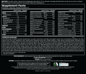 Shakeology ingredients list
