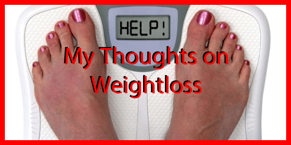 My thoughts on Losing Weight